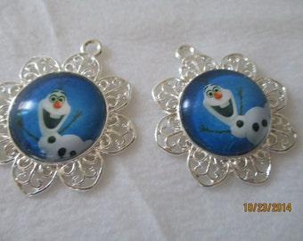 Frozen    Pendant, Metal, Ready to use on Necklace or Bracelet or Pin