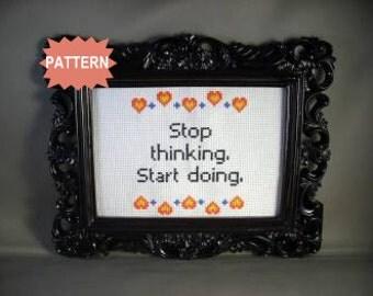 PDF/JPEG Stop thinking, start doing. (PATTERN)