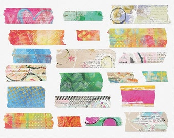 Mixed Up Washi Tape for Art Journaling, Mixed Media & Digital Scrapbooking