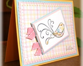 Pastel Hello Handmade Friend All Occasion Greeting
