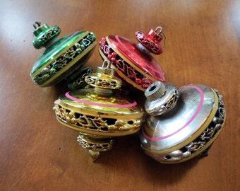 Vintage Plastic Mid Century Ornaments Cut Out Design
