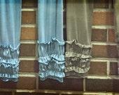 Women's Tivoli leggings in spandex, lycra, jersey knit with ruffles