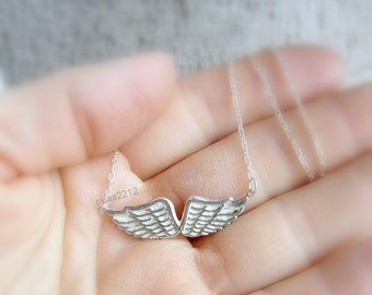 angel wing pendant, sterling silver ring, sweet, wing, wings, angel ring, woman, women, ligh, necklace