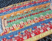 18 x 36 Depression Era Quilted Table Runner