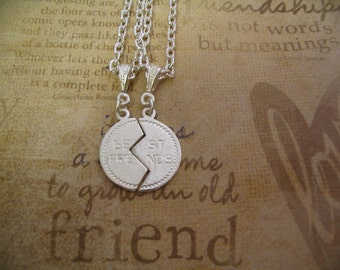 Best Friend Necklace Set for Sisters or Mother Daughter Friends Gift