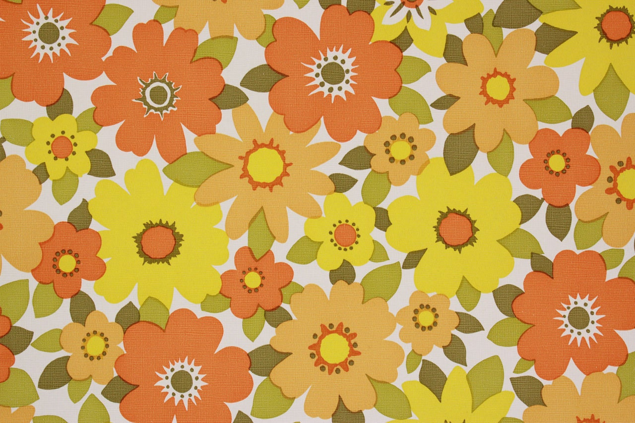 1970s vintage wallpaper retro - photo #7