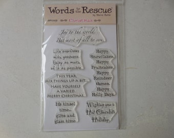 Words to the Rescue - Christmas Stamps