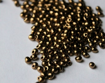 10 grams of Met Dark Bronze drops 3.4mm made by Miyuki (Like DB 22) color # DP-457
