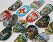 Vintage Cane Souvenir Alpenstock Badge Medallion Collection New Old Stock Walking Stick Badges Hiking Stick Badges