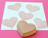heart hand carved rubber stamp, handmade rubber stamp, valentine stamp,