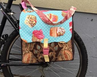 Cupcake bicycle pannier bags