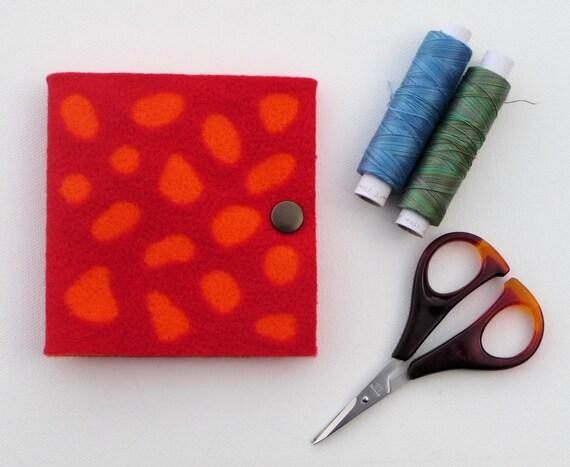 Needle Book / Sewing Needle Case Felt Needle Felted Bright