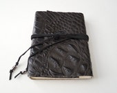 Crocodile Embossed  Leather Journal
