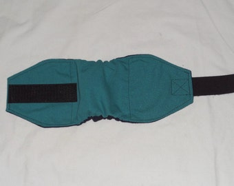 One Teal Male Dog Diaper | Puppy Belly Band | 4 smaller sizes to pick from | Dog Belly wrap | Doggie Doggy bellyband