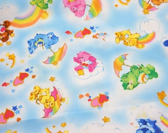 Care Bears Fabric 50 cm by 53 cm or 19.6 by 21 inches FAT QUARTER