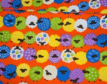 Colorful Sheep print Half meter 50 cm by 106 cm or 19.6 by 42 inches nc14
