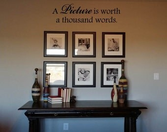 Wall Decal Quote:  A picture is worth a thousand words.
