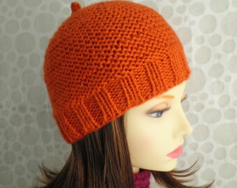 KNITTING PATTERN Womans Knit Pattern/ Easy Hat Pattern/ Knitwear Pattern/Womans Cap Hat Beanie/Knit Straight