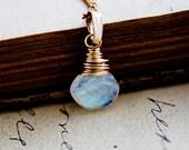 Moonstone Jewelry Gemstone Necklace Gold Galaxy Celestial