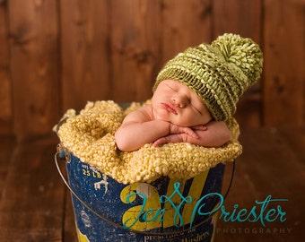 Newborn Baby Hat, Baby Hat, Pom Pom Knit Baby Hat, Baby Photo Prop, Newborn Hat, Knit hat