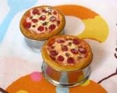 "7/8"" Pizza Plugs - Realistic Pepperoni Pizza Food Plugs"