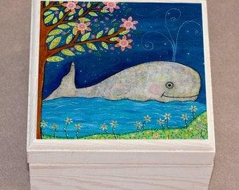 Whale Jewelry Box, Children Decor