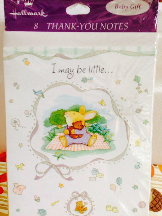 New Baby Gift Thank You Cards : New hallmark thank you notes baby gift cards size x