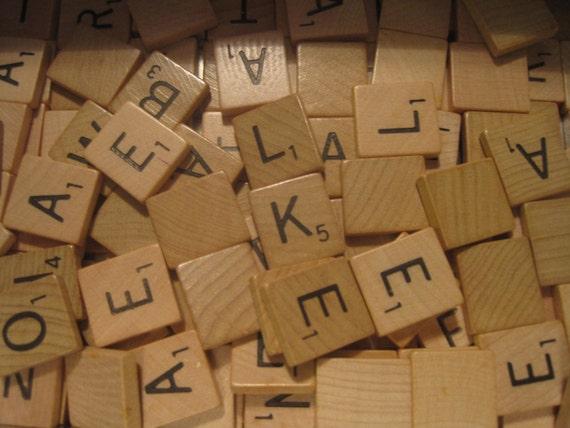 100 Scrabble 174 Tiles Single Letter By Thundercrafts On Etsy