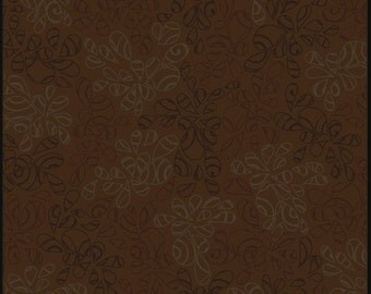 Art Gallery • Nature Elements • Coffee Liqueur • Cotton Fabric 0.54yd (0.5m) 002054