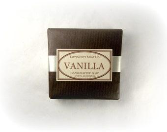 Vanilla Soap, Cold Process Soap, Handmade Soap, Bar Soap, Palm Oil Free Soap, Phthalate Free Fragrance, Pure Vanilla Scent, No Color Added