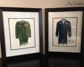Military Uniform Sketch - Perfect Retirement Gift, Birthday Gift or Christmas Gift