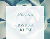 Rush Art Fee-2 Days For A Dreamlines Sketch- One Year Anniversary Gift, Valentine's Day Gift, Wedding Gift or Bridal Shower Gift