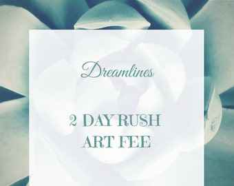 Rush Art Fee-2 Days For A Dreamlines Sketch- bride gift ideas, bride gift from maid of honor, bride gift from bridesmaid, bridal shower gift
