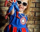 Captain America Superhero Play Dress 3t - 8 Product ID #CASPD100