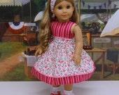 Flower Whimsy - Dress for American Girl doll