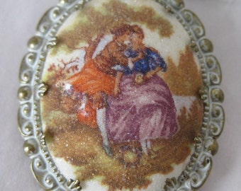 Romance Victorian Brooch Gold Sugar Vintage Pin Germany