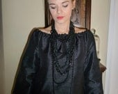 Boatneck Shift DRESS or TOP - 3/4 length sleeves - Raw Dupioni Silk - Made in any Size - Boutique Mia by CXV