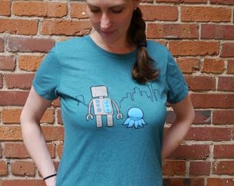 Women's Seattle Robot Shirt