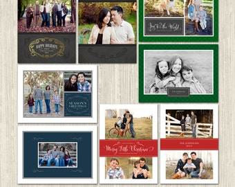Winter Elegance Holiday Photo Card Collection   Photoshop Templates   Great for Photographers or Scrapbookers   CS6027