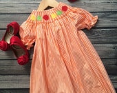 Smocked Fall leaves Dress