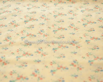 Sweet Bouquets on Yellow- Vintage Fabric Flowers Juvenile Floral Novelty Sweet Roses Daisies Dolll Clothes
