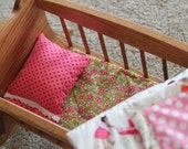 Doll Cradle Bedding - Custom Fabrics and Colors