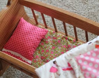 Doll Cradle Bedding - Custom Fabrics and Colors