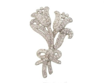 Art Nouveau Brooch, Vintage Rhinestone Book Piece, 1900s  Antique Jewelry,Art Nouveau Rhinestone Wedding Jewelry, Wedding Jewellery