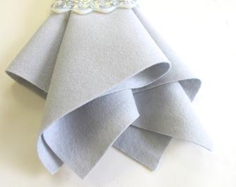 Silver Grey Felt, 100% Wool, Choose Size, Nonwoven Felt, Merino Wool Fiber, Wool Applique, Needlework, Felt Sheet, Felt Square
