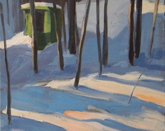 Winter Afternoon - original oil painting