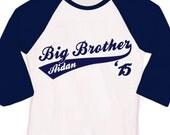 Big brother or big brother to be '15 sporty swoosh raglan shirt
