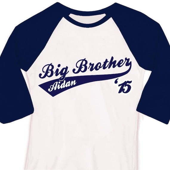Big brother or big brother to be '15 sporty swoosh raglan shirt