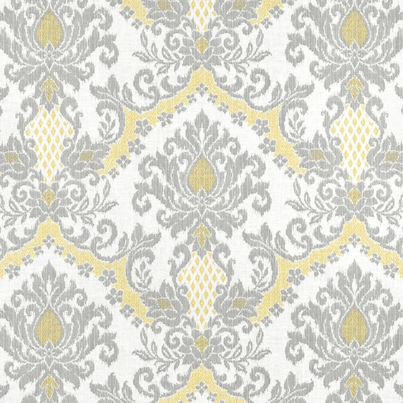 Grey Yellow Window Curtains Modern Ikat By Asmushomeinteriors