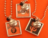 San Francisco Giants - SF Giants - 2014 World Series Champions - Baseball Necklace - ME Designs